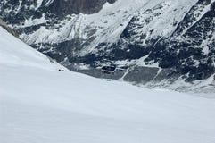 Reprise d'accidents et d'hélicoptère de ski Photographie stock