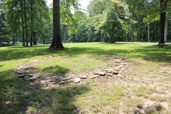 Reproducción de círculos de piedra de 2000 años en el fuerte antiguo, Ohio Fotografía de archivo libre de regalías