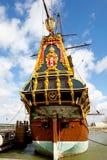 Reproducción de la nave alta holandesa la Batavia Fotos de archivo libres de regalías