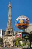 Reproducción de la torre Eiffel en Las Vegas Imagen de archivo
