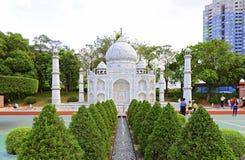 Reproducción del Taj Mahal en la ventana del mundo, Shenzhen, China foto de archivo