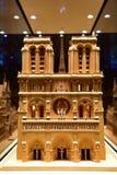 Reproducción escalada de la catedral famosa de Notre Dame de Paris Fotografía de archivo