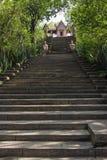 Reproductie Prasat Phra Wihan bij Oude stad, Sumutprakarn, Th Stock Fotografie