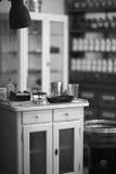 Reproductie van antieke spreekkamer bij Museum van Geneeskundegeschiedenis Stock Foto