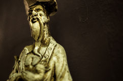 Reproductie van een standbeeld van Confucius stock foto