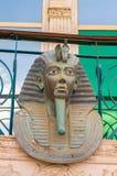 Reproductie van het hoofd van de sarcofaag van Tutankhamun royalty-vrije stock foto