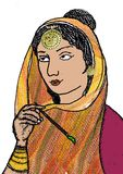 Shoni protagonist of popular tragic romances of Punjab stock photography