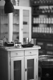Reproduction of antique doctor's office at Museum of Medicine History Stock Photo