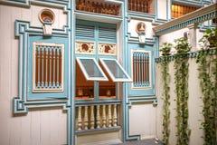Reproduction d'une façade à la maison du 19ème siècle Photographie stock libre de droits