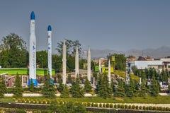 Reproduction des fusées militaires iraniennes dans le musée, Téhéran, Iran Images libres de droits