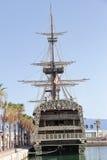 Reproduction du navire de guerre espagnol Santisima Trinidad dans le port d'Alicante Photographie stock libre de droits