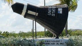 Reproduction du vaisseau spatial de Mercury de l'amitié 7 sur l'affichage dans le Turc grand Photographie stock