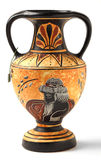 Reproduction Hellenistic amphora souvenir. A reproduction of a Nikosthenic black figure amphora from the Hellenic period. The original was found on the  Cyprus Stock Photos