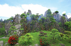 Reproduction of huangshan mountain, china Royalty Free Stock Images