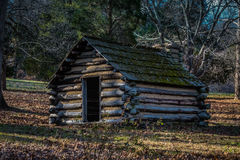Reproduction hut at Valley Forge PA USA Stock Photo