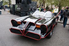 Reproduction initiale de Batmobile au rassemblement Londres de Gumball Images libres de droits