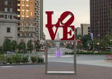 Free Reproduction Of Robert Indiana`s Love Sculpture In John F. Kennedy Plaza, Center City, Philadelphia, Pennsylvania Stock Photos - 118716913