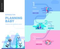 Reproduction - web page template. On pregnancy and fertility Royalty Free Stock Photo