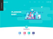 Reproduction - web page template. On pregnancy and fertility Royalty Free Stock Photography
