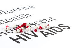 Reproductive health by Adolescent, AIDS, HIV, medication sicknes stock image