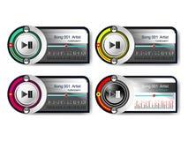 Reproductor de audio Imagen de archivo libre de regalías