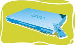 Reproductor de DVD con el telecontrol Foto de archivo
