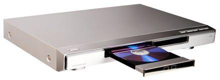 Reproductor de DVD con la bandeja abierta fotografía de archivo