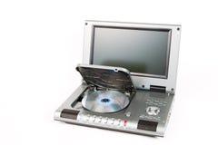Reproductor de DVD con la tapa abierta Imágenes de archivo libres de regalías