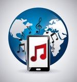 Reproductor multimedia app Imagen de archivo libre de regalías