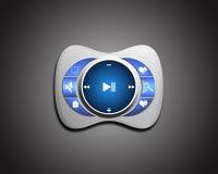 Reproductor multimedia azul Imagenes de archivo