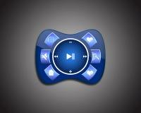Reproductor multimedia azul Fotos de archivo libres de regalías