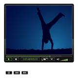 Reproductor multimedia del vector Fotografía de archivo libre de regalías