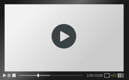 Reproductor multimedia del Web Imagenes de archivo