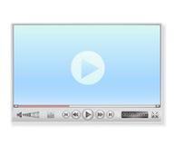 Reproductor multimedia en colores claros Imagenes de archivo
