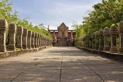 Reprodukcja Prasat Phra Wihan przy Antycznym miastem, Sumutprakarn, Th Zdjęcie Stock