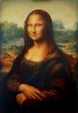 Reproduktion av att måla Mona Lisa vid Leonardo da Vinci och för ljus grafisk effekt arkivfoton