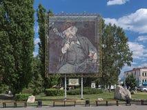 Reproduktion av Edouard Manet ` s som målar Le Bon Bock som göras av kapsylerna i Penza, Ryssland Arkivbilder