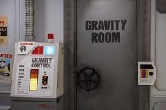 Reproduktion av rum för Dragon Ball toppet Vegeta gravitationutbildning och kontroll i J-värld nöjesfält in till arkivbild