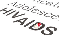 Reproduktiv hälsa av tonåringen, HJÄLPMEDEL, HIV, läkarbehandlingsicknes Arkivfoton
