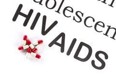 Reproduktiv hälsa av tonåringen, HJÄLPMEDEL, HIV, läkarbehandlingsicknes Arkivfoto