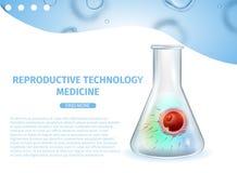 Reproduktiv teknologimedicin IVF-baner vektor illustrationer