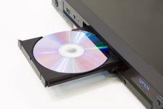Reprodutor de DVD com uma bandeja aberta Fotografia de Stock Royalty Free