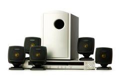 Reprodutor de DVD e altofalantes Fotografia de Stock