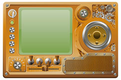 Reprodutor multimedia do grunge de Steampunk Imagem de Stock Royalty Free