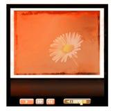 Reprodutor multimedia do Web de Grunge imagens de stock
