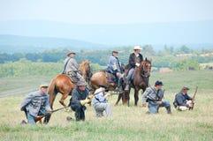 Repromulgación de la batalla de Manassas Foto de archivo libre de regalías