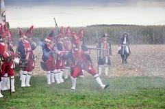 Repromulgación de la batalla de Marsaglia (el octubre de 1693) Imágenes de archivo libres de regalías