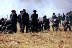 Repromulgación de la guerra civil en Olustee, la Florida Foto de archivo