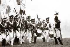 Repromulgación histórica de Borodino 2012 Foto de archivo