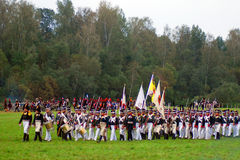 Repromulgación histórica de Borodino 2012 Fotografía de archivo libre de regalías